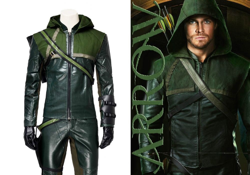 sc 1 st  Joyfay.com & Green Arrow Oliver Queen Cosplay Costume Fast Shipping