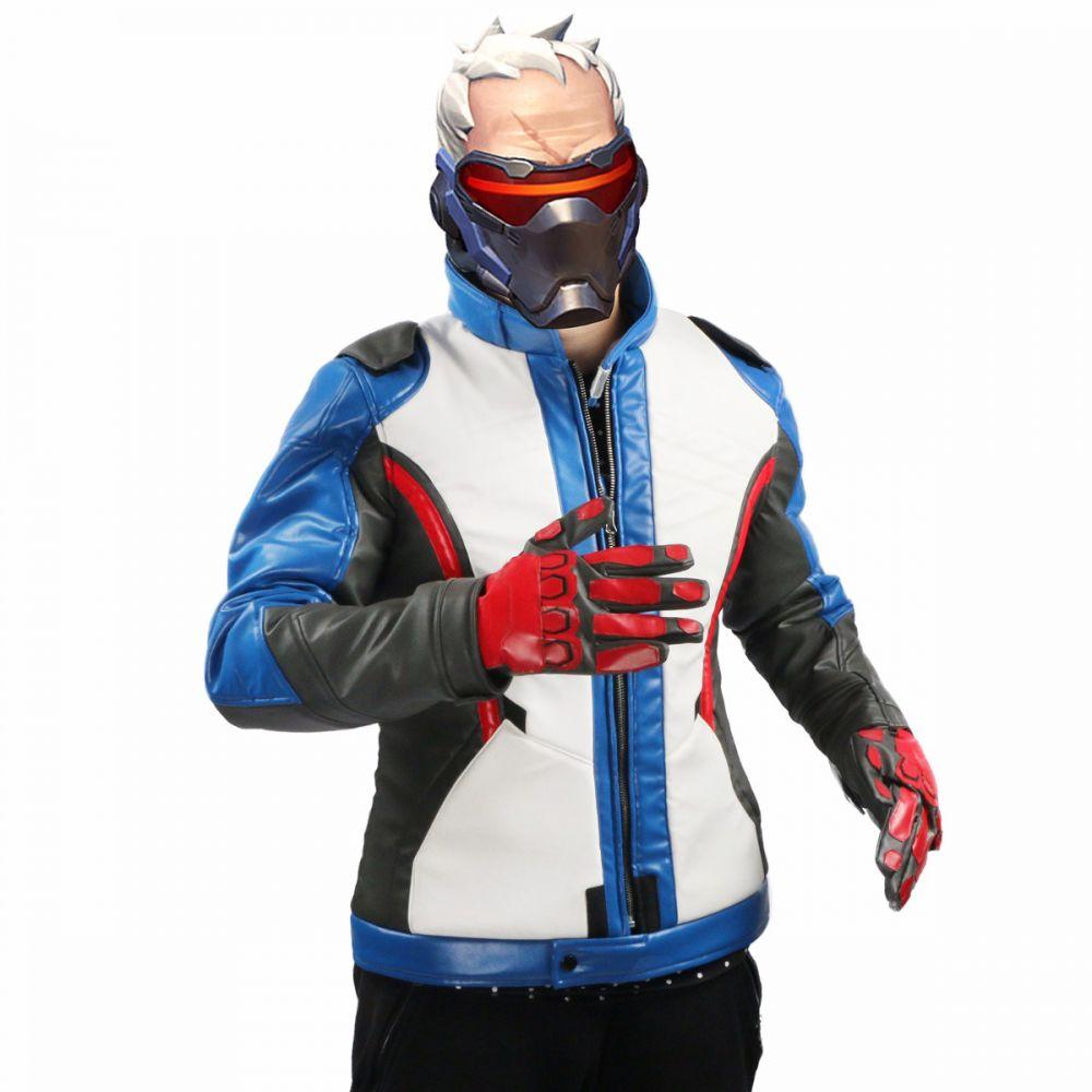 ow overwatch 76 soldier cosplay costume coat gloves