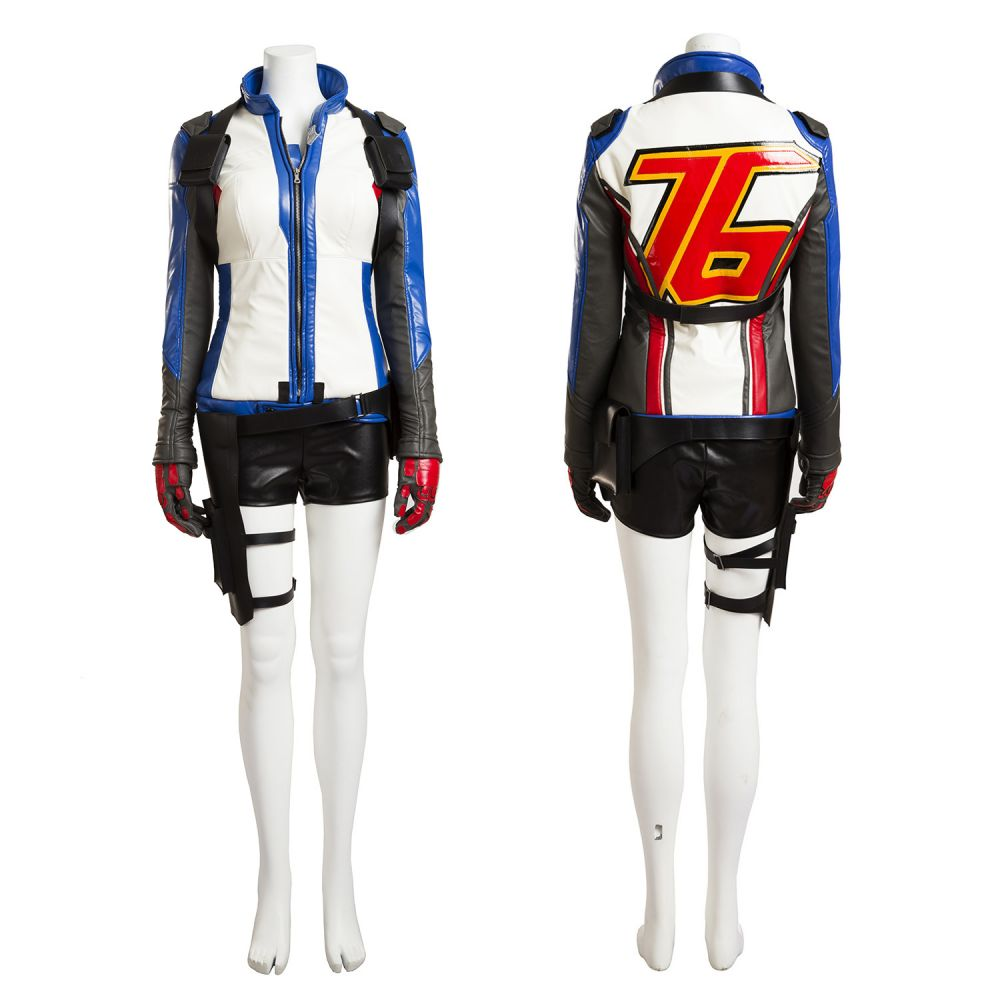 women s overwatch 76 soldier uniform cosplay costume customized