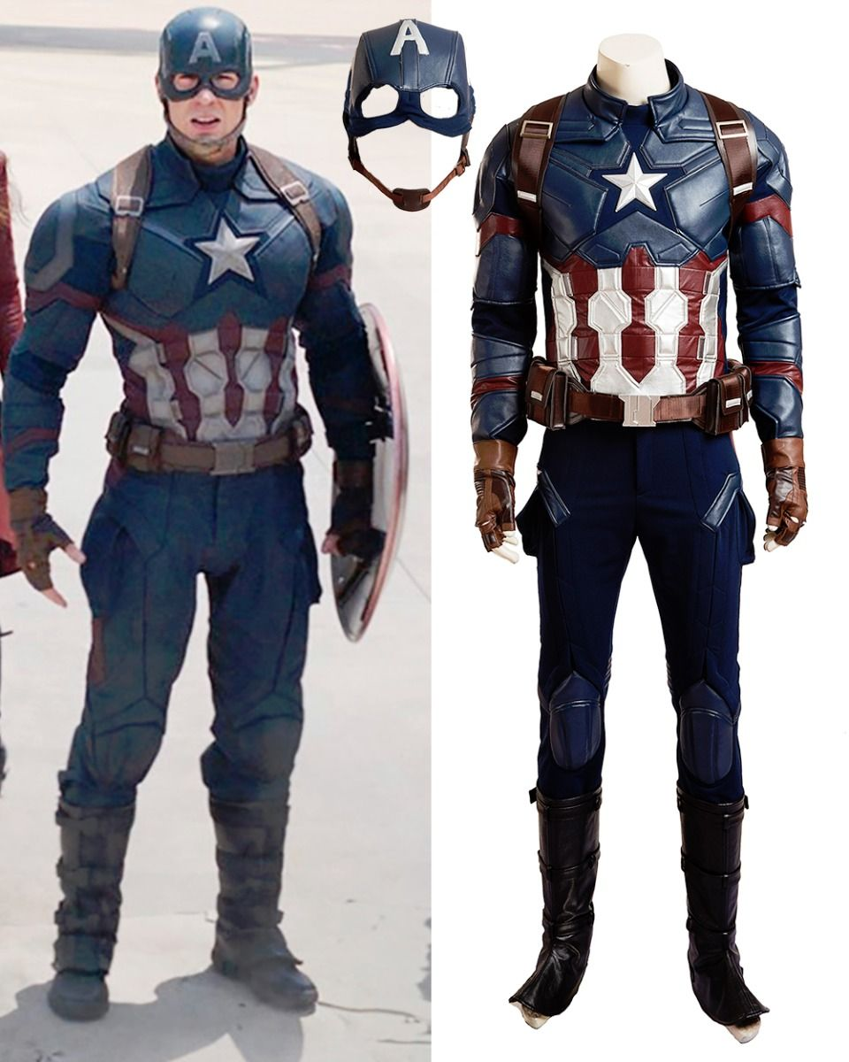 new arrival captain america 3 steven rogers cosplay costume hallowen