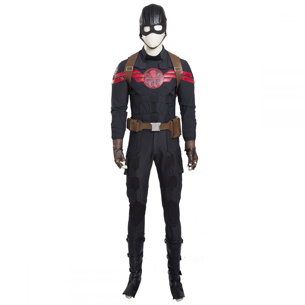 captain america steve rodgers hydra cosplay costume customized