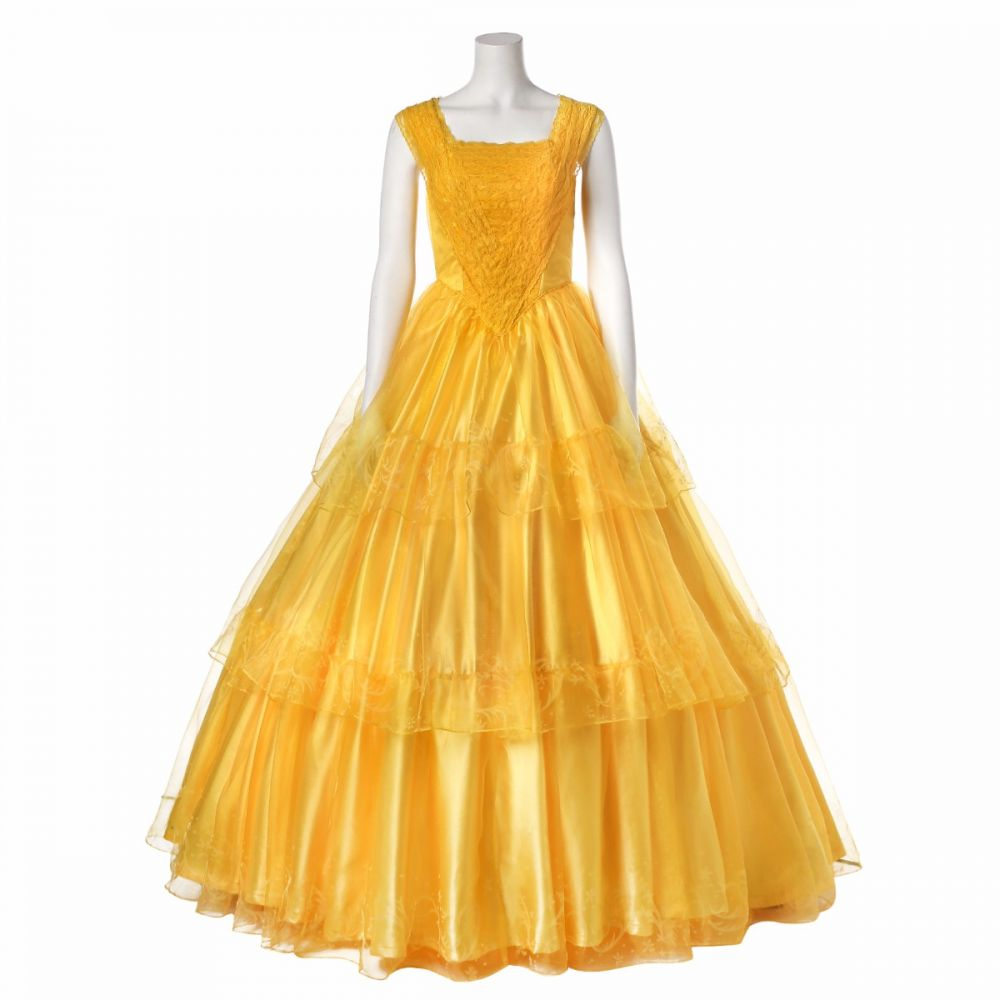 New Beauty and The Beast Belle Cosplay Costume Ball Gown Fancy Dress