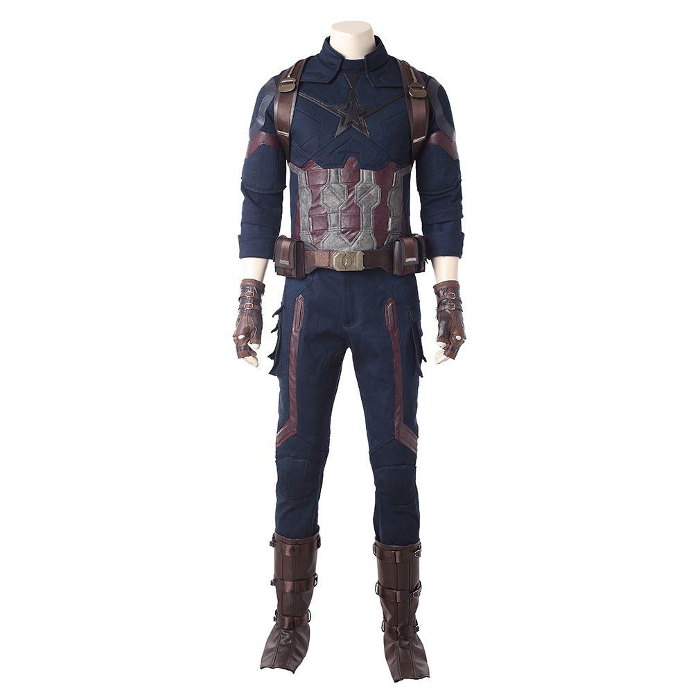 the avengers infinity war captain america halloween costume full set