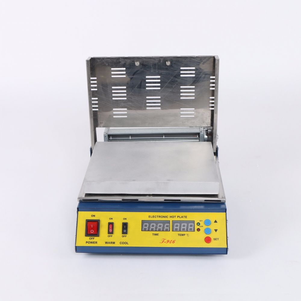T 946 Mcup Hot Plate Pcb Preheater Preheating Oven 800 W 180 X 240 Mm Electronic Circuit Board With Processor Repair Boards Stock Details