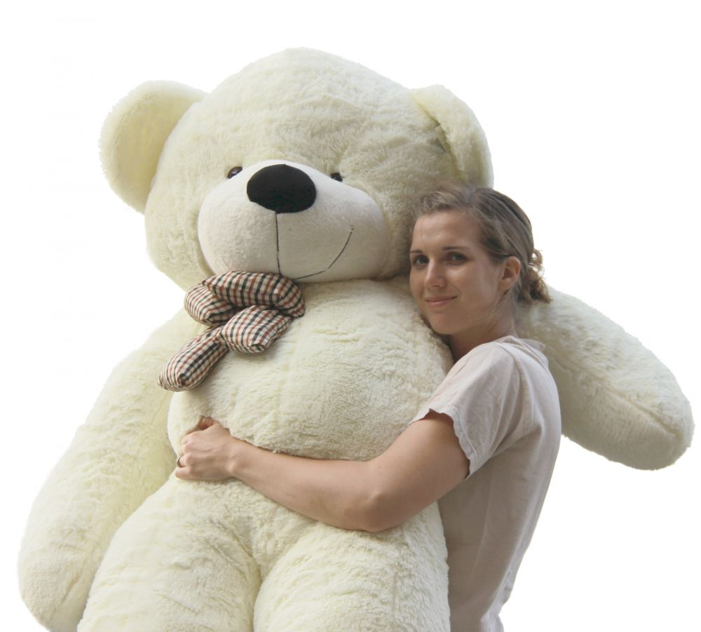 a perfect 78 u0027 u0027 white teddy bear that will melt your heart