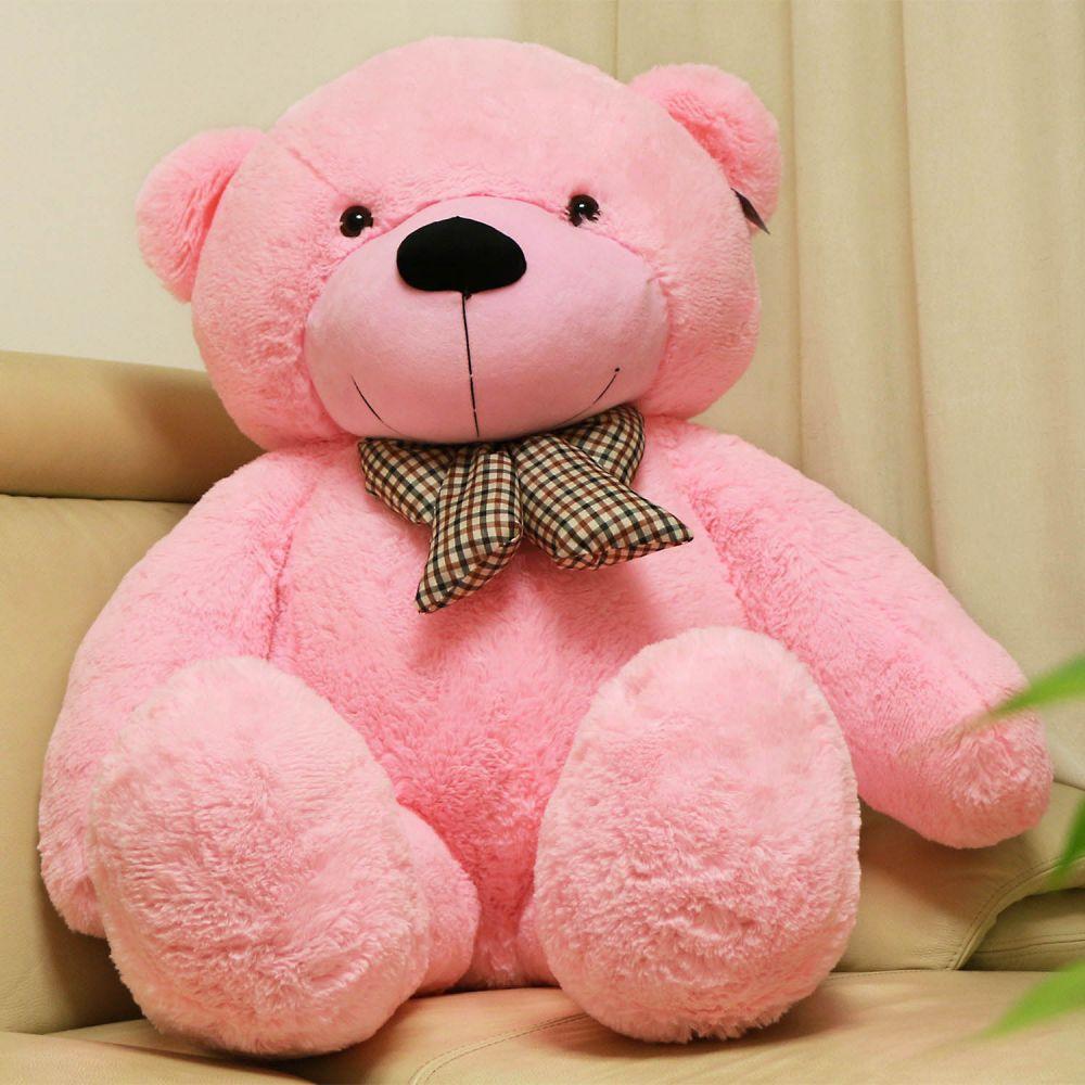 63 Pink Giant Teddy Bear 160cm Stuffed Animals Plush Toy Christmas Gift