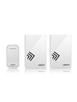 Smart Door Bell Wireless Doorbell 150m Remote Control with 2 Receivers