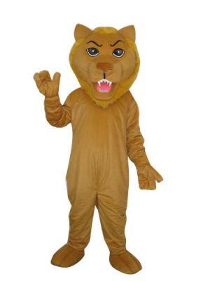 deluxe Lion Long teeth Mascot Costume