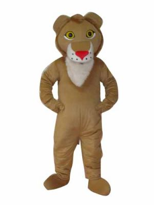 Red Nose Lion Mascot Costume
