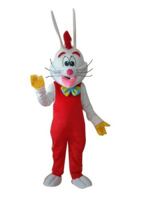 Rabbit Bunny in Red Mascot Costume