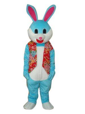 Rabbit Bunny in Blue Mascot Costume
