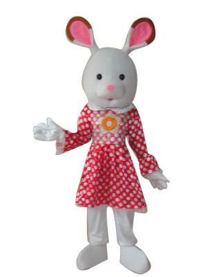 Rabbit Bunny in Pink Mascot Costume