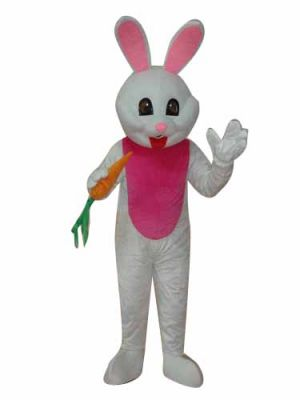 White Rabbit Bunny Hare Mascot Costume