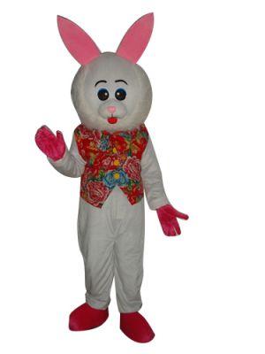 Big Face Rabbit Bunny Mascot Costume