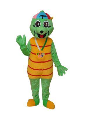 Green Tortoise Turtle Grandpa Mascot Costume