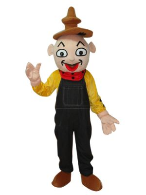 Clown in Black Pants Mascot Costume