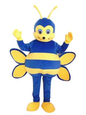 Blue Honey Bee Mascot Costume