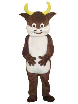 Brown Cow Bull Mascot Costume