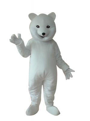 Giant White Polar Bear Mascot Costume