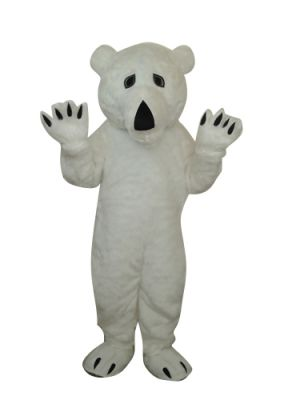 Deluxe White Polar Bear Mascot Costume