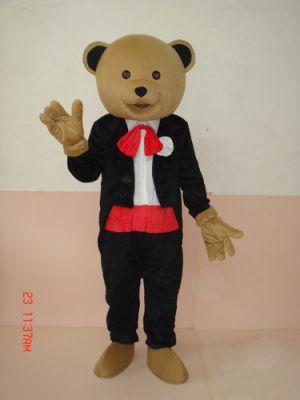 Teddy Bear in Gentleman Mascot Costume