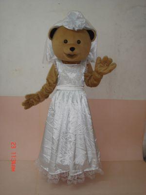Teddy Bear in WEDDING es Mascot Costume