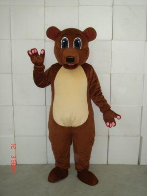Golden Brown Teddy Bear Mascot Costume