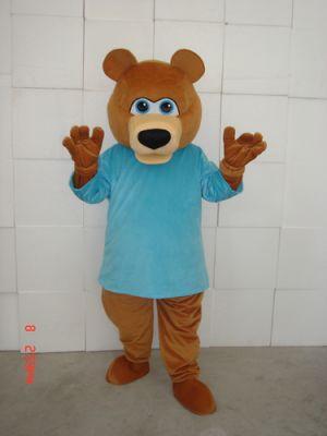 Teddy Bear BLUE T SHIRT Mascot Costume