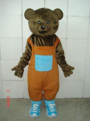 Teddy Bear in BiB pants Mascot Costume