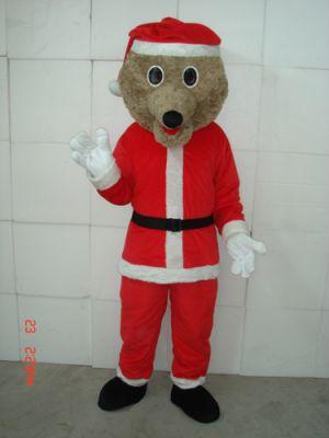 Christmas Brown Teddy Bear Mascot Costume