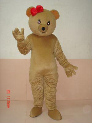 Teddy Bear Rosette Bow Knot Mascot Costume