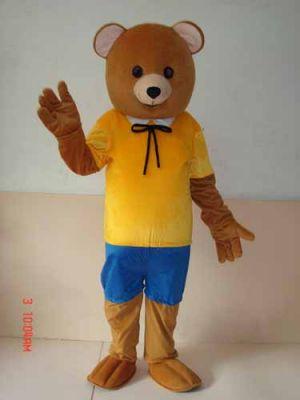 Teddy Bear in Shorts Shirts Mascot Costume