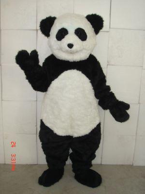 Deluxe Smiling Panda Bear Mascot Costume