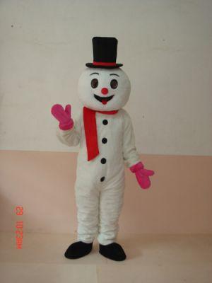 White SNOWMAN Snow Man Mascot Costume
