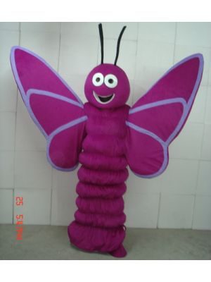 Purple Butterfly Insect Mascot Costume