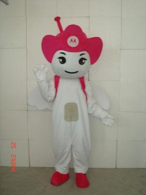 Pink Motorola Angel Mascot Costume