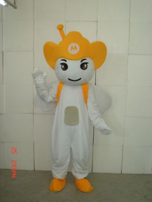 Yellow Motorola Angel Mascot Costume