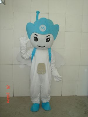 Blue Motorola Angel Mascot Costume