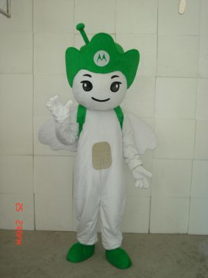 Green Motorola Angel Mascot Costume