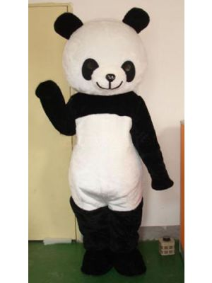 Panda Bear w/ long plush Mascot Costume