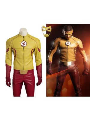 New The Flash 3 Kid Flash Wally West Cosplay Costume Superhero Uniform