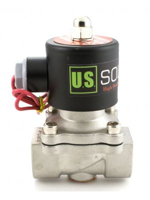 U. S. Solid® 3/4'' Stainless Steel Electric Solenoid Valve 110VAC