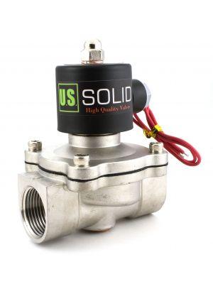 U. S. Solid® 1'' Stainless Steel Electric Solenoid Valve 110VAC