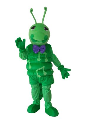 Green bugs insect antenna Mascot Costume for Children Adult Size
