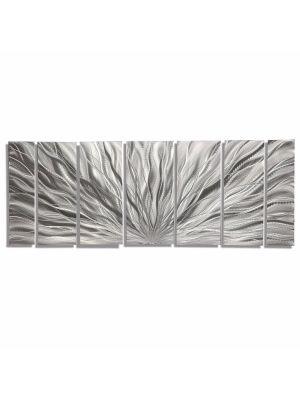 Modern Abstract Metal Art Wall Sculpture Silver Home Decor Painting