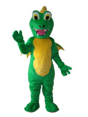 Green Dragon Mascot Costume