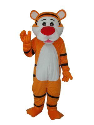 Alert Cute Tigher Mascot Costume