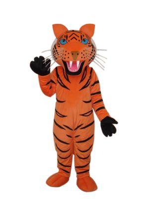Tiger Long Teeth Mascot Costume