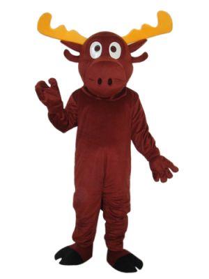 Dark Brown Reindeer Deer Mascot Costume