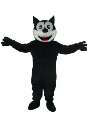 Black CAT with Big Smile Mascot Costume